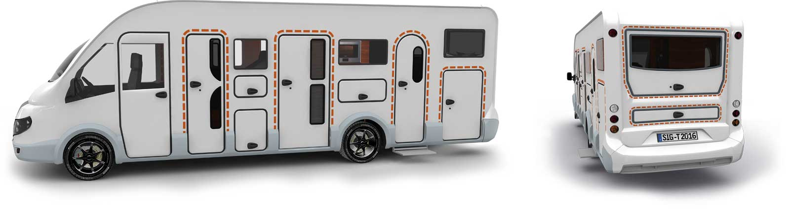 Satisfied tegos customers with Chausson caravans and RVs
